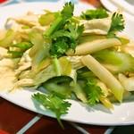 龍麺坊 - 湯葉とセロリ和え
