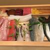 萬彩 - 料理写真:ネタ箱 平目、鯛、穴子がとくによかった。シメサバの仕事もよかった