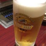 焼肉 丸忠 - ビール