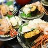 独楽寿司 - 料理写真:201608北海三点盛¥880 ×4