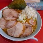 小十郎 - 中華そば:大盛り+豚マシ+刻みネギ