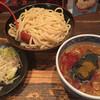 三田製麺所 - 料理写真:灼熱(中盛り、辛さ2)+ちょこっと野菜