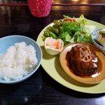 チェリーズ スプーン - 「蓮根入りハンバーグ(デミグラスソース)」980円税別