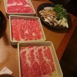 しゃぶしゃぶ温野菜 - 料理写真:厳選牛とイタリア豚