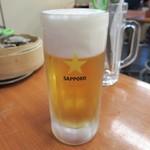 かき小屋フィーバー - 生ビール