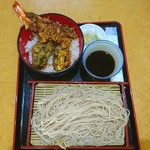 浜松町 更科 - 天丼と もりそば♥(*´∀`) ランチZ♥ 920円♥