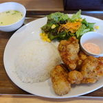 丸鶏素揚 ひなまる - 明太マヨからあげコンボ 700円