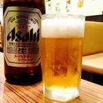 佐海屋旭 - キンキンに冷えた瓶ビールは美味しいのよ♪