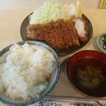 天元豚とんかつ浜 - 料理写真:ロースカツ定食