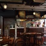 カフェ ピッツェリア ヴィオレット - 店内からピザ釜