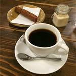 さらさ花遊小路 - 浅煎りのコーヒーとビスコッティ(チョコ&クランベリー)
