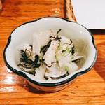 串天ぷら 段々屋 - カブの汐昆布和え