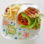 わくわく×モグモグ×キッチン Shu - 料理写真:M.L.T.A(自家製ミミガーの沖縄ソバーガー)