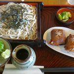 三河屋 - 肉巻きざるそばセット。三河屋(静岡県湖西市) 食彩品館.jp撮影