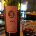 Bistro ひつじや - 201608 SAPERAVI サペラヴィ(アゼルバイジャンの赤ワイン) ハーフボトル 1050円