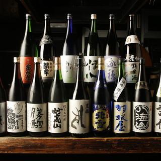 北陸・新潟の地酒常時70種以上!