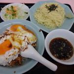 重松飯店 - 料理写真:焼豚玉子飯Cセットの冷やし810円(税込)