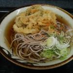 地下鉄後楽園そばコーナー - 野菜かき揚げそば(\390)