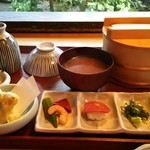 雪月花 - 「近江牛ひつまぶしランチ」御膳というかんじです