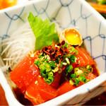 浅草 軍鶏家 - マグロユッケ