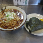 駅乃そば - 料理写真:おにぎりセットそば 450円 (2016.8)