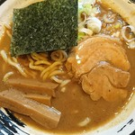Sasahara - 料理写真:濃厚中華そば780円濃厚で肉厚なスープのワイルドさに惚れました。子供達にも大人気ですぐ消えました