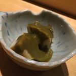 すし天 - 蒸し鮑 肝ソース