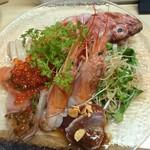 大市寿司 - カルパッチョ!海老の大きさすごい!
