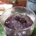紫野和久傳  茶寮 - 桑の実ゼリーアップ