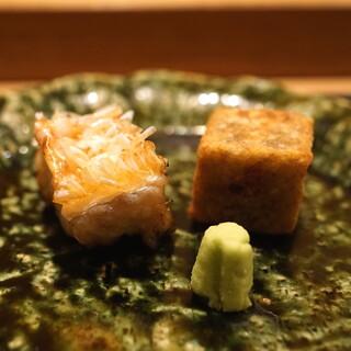 虎白 - 「焼物」 甘鯛の松笠焼きと牛蒡添え