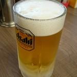 めん王  - 生ビール。