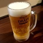 七津屋 - 生ビール(中)