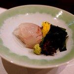 えさき - お造り 青森の鯛、若布、山葵