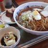 味の宝龍 - 料理写真:ギョウザ定食(小ライスの代わりに麺大盛り)