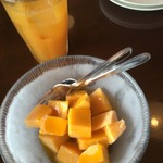 カフェくるくま - マンゴーとシークァーサージュース!!