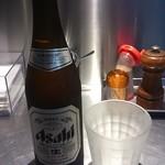 バサノバ - スーパードライ 480円  500mlの中瓶です。