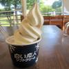 さっぽろ羊ヶ丘展望台 オーストリア館  - 料理写真:白い恋人ソフトクリーム☆