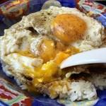 白楽天 - 料理写真:まずは・・・半分だけを卵をつぶしごちゃ混ぜ~で食す^^