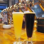 ベクタービア - スワンレレイクビール:ヴァイツェン(左)プレストンエール:アイリッシュエール(右)
