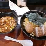 つけ麺屋しずく - 【全部入り濃厚魚介系つけ麺…1,000円】2016/8