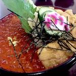 ひら井 - 連れが食べてたウニいくら丼2700円、庶民には手が出ません(笑)