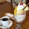 珈琲時音 - 料理写真:ヨーグルトパフェ 550円+時音ブレンド 350円