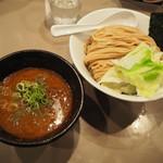つけ麺 五ノ神製作所 - 海老つけ麺750円+麺大盛り150円