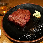 鳥茂 - 【16年7月】ワサビと塩でいただく「サーロインステーキ」