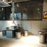 神保町食肉センター - 2階席。ローテーブルです