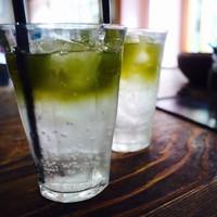 緑茶エスプレッソソーダ
