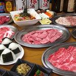 さんきゅう - 料理写真:宴会3500円コース4名様用 ボリュームあります!!