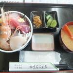 うろこいち - 料理写真:ちらし丼1250円(2016.8.14)