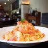ラ クチーナ イタリアーナ イジルシ - 料理写真:桃とトマトの冷製パスタ
