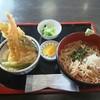 そば処翠松庵 - 料理写真:天丼・そば(冷)セット